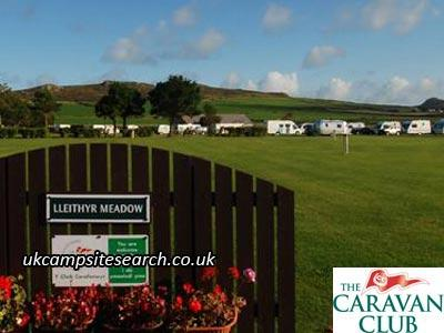 St Davids Lleithyr Meadow Caravan Club Site