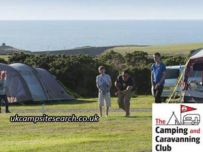 St Davids Camping and Caravanning Club Campsite